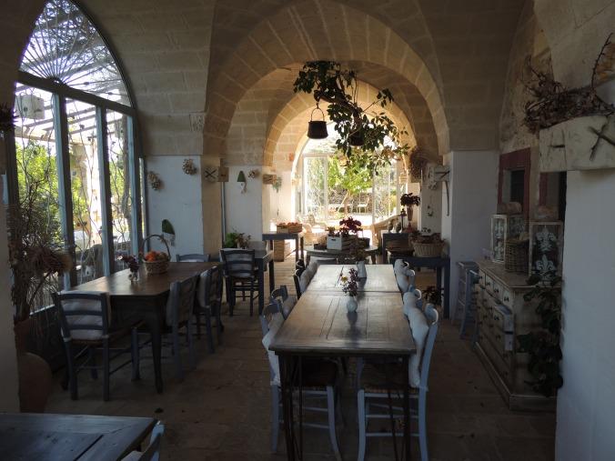 Sala colazioni esterna